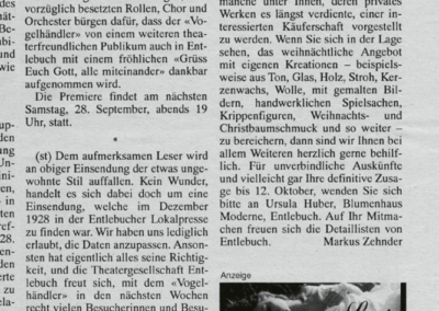 1996 Bericht Lokaltermin im Entlebucher Anzeiger vom 26.9.1996