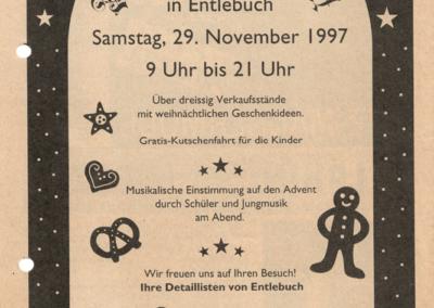 1997 Ganzseitiges Inserat im Ämme Express vom 28.11.1997
