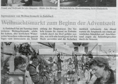 1998 Berichterstattung im Entlebucher Anzeiger vom 1.12.1998