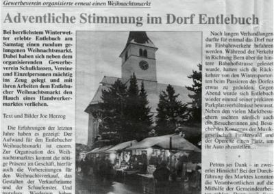1998 Berichterstattung im Entlebucher Anzeiger vom 30.11.1999