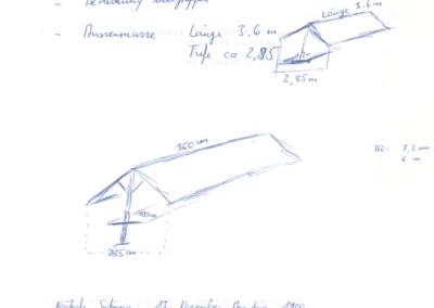 2000 Handskizze eines Willisauer Standes