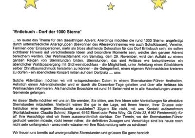2003 Information Entlebuch – Dorf der 1000 Sterne