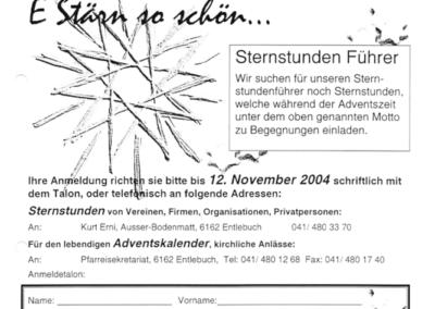 2004 Anmeldung für 2. Sternstundenführer
