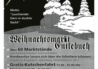 2005 Plakat 11. Weihnachtsmarkt Entlebuch