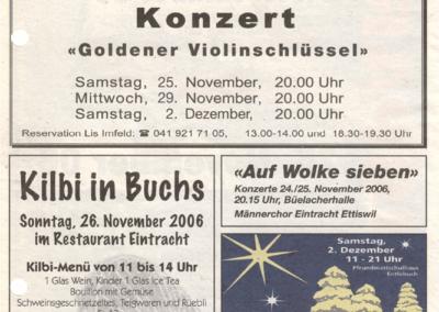 2006 Inserat im Ämme Express vom 22.11.2006